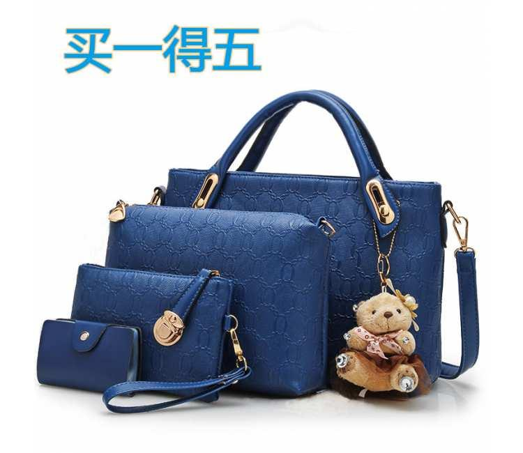 4IN1 POPULAR HANDBAG -BDW2686BLUE