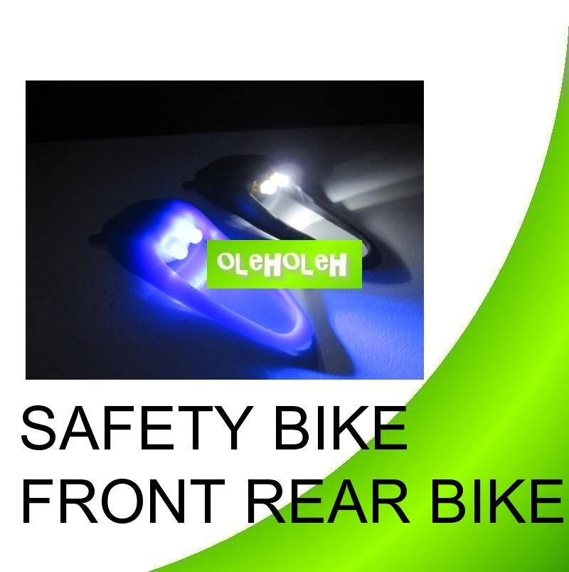 4x Led Superbright Silicone Safety Bike Front Rear Wheel Light