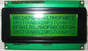 4x20 characters LCD Display