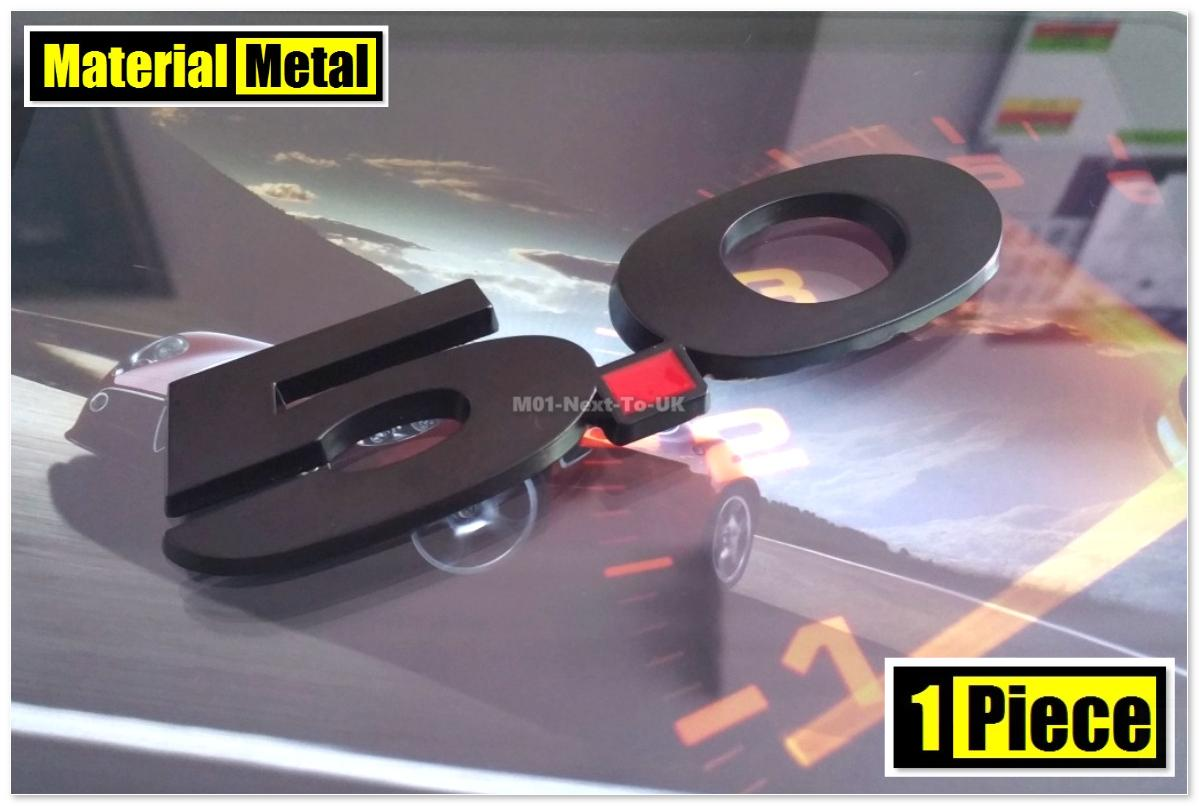 5.0 MATT BLACK 13.8cm HQ 3D Metal Car Trunk Badge Side Auto Emblem Log