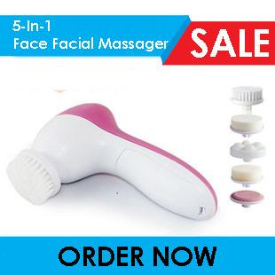 5-In-1 Automatic Ultrasonic Exfoliating Face Facial Massager