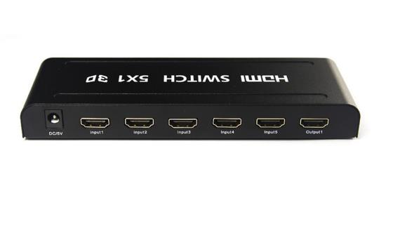 5 In / 1 Out HDMI Switch 5x1 Switcher Full HD1080P