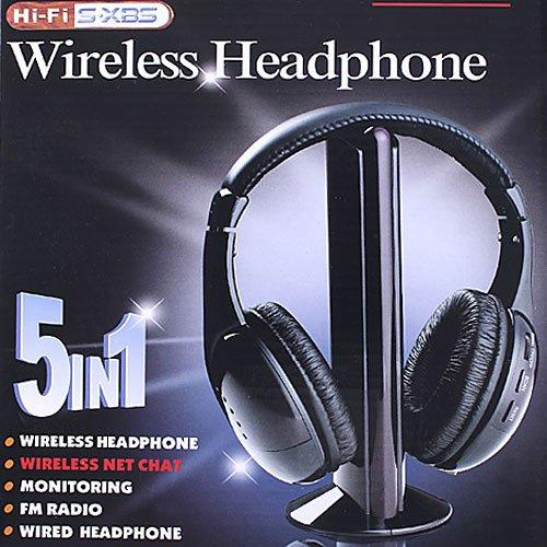 5 in 1 Wireless headphone Earphone for MP3 PC TV
