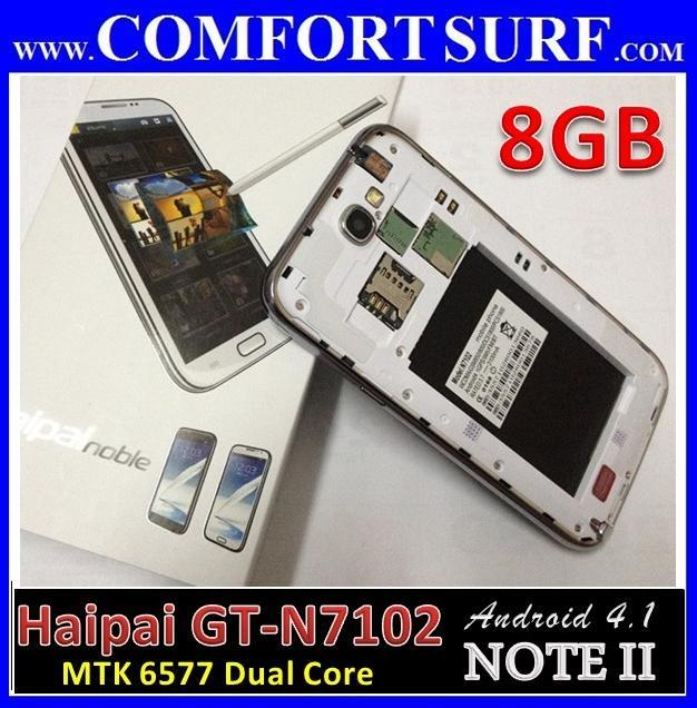 5.5inch Haipai N7102 Note II 1:1 8GB 12Mp Android 4.1 GPS SmartPhone