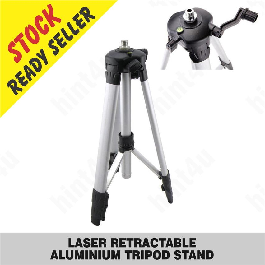 5/8 thread LASER RETRACTABLE  ALUMINIUM TRIPOD STAND