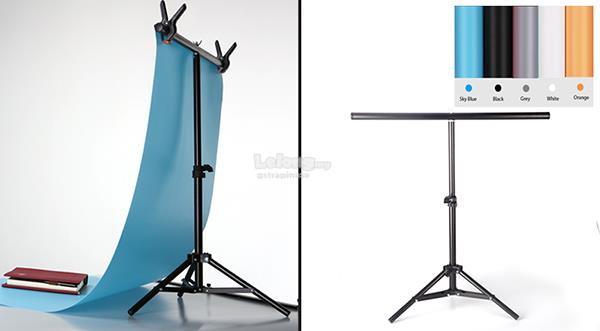 5 Color PVC Backdrop Kit 60 x 130cm for Product Shooting with Stand
