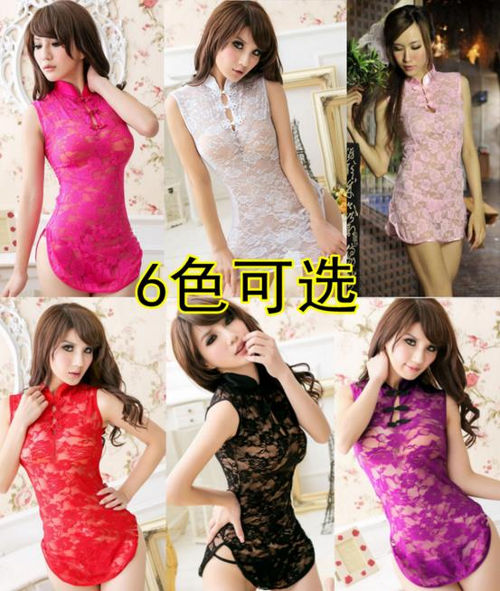 5 colours Sexy Cheongsam Lingerie Sleepwear with G-string MYC306