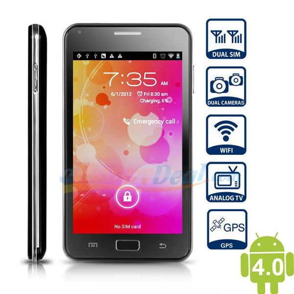 5' NOTE ANDROID 4.0 DUAL CORE 3G BUILD IN WIFI GPS TV ANDROID DUAL SIM