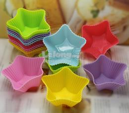 5 pcs Star-Shaped silicone muffin cup cake mold/jelly pudding mold
