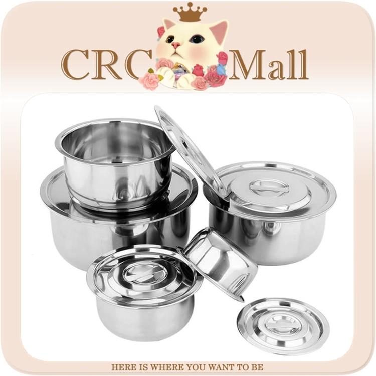 5-Pieces Set Multipurpose Stock Pot (Stainless Steel)