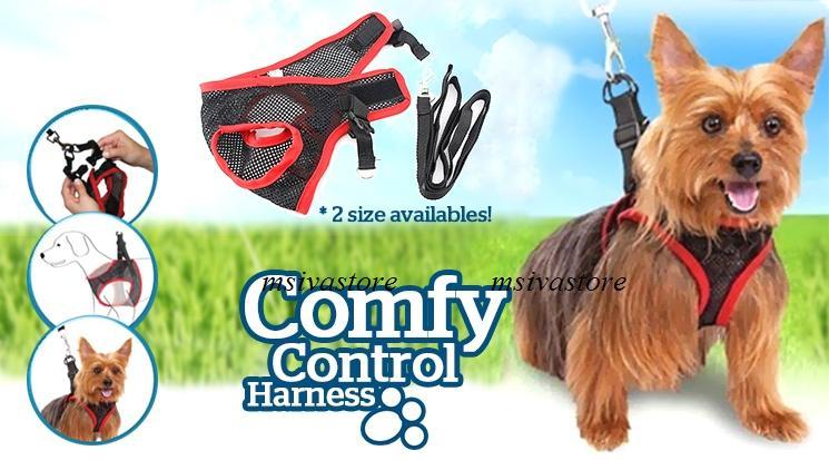 50% OFF] Comfortable Mesh Chest Harness for Dogs + FREE Leash Included