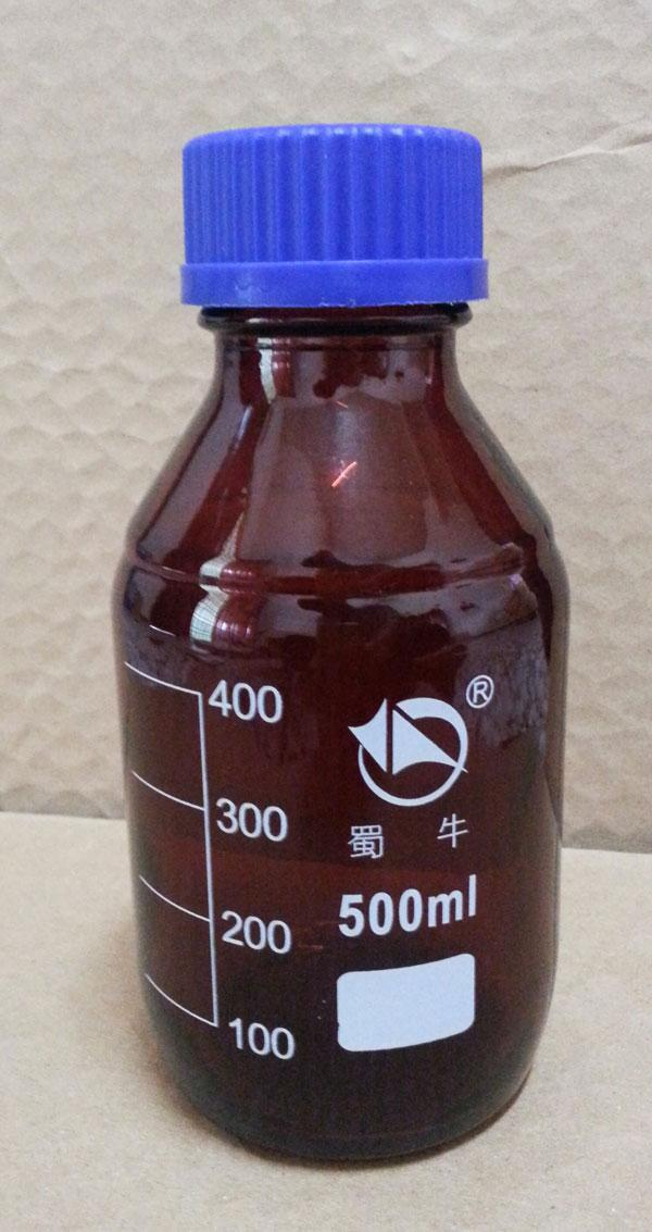 500mL Amber Reagent Bottle / Sampling / Glass / Blue Cap