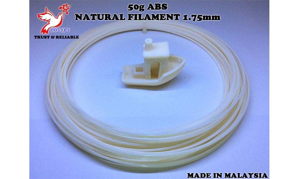 50g_High Grade ABS Natural Filament 1.75mm