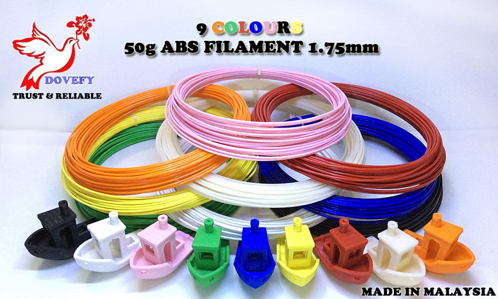 50g_High Grade ABS Pink Filament 1.75mm