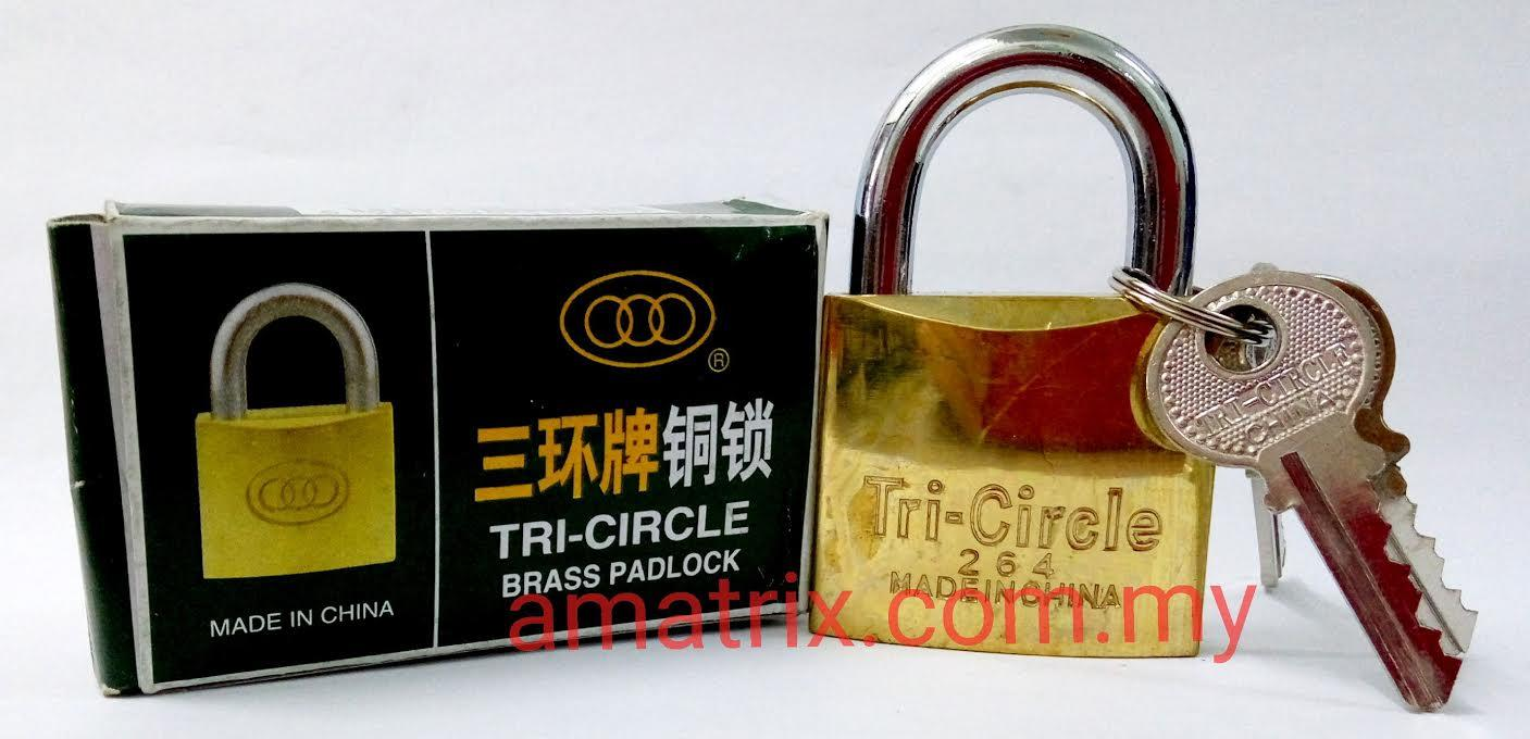 50mm Brass Padlock TRI-CIRCLE 265
