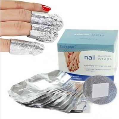 50Pcs/Lot Aluminium Foil Nail Wraps For Nail Art Soak Off Acrylic UV G