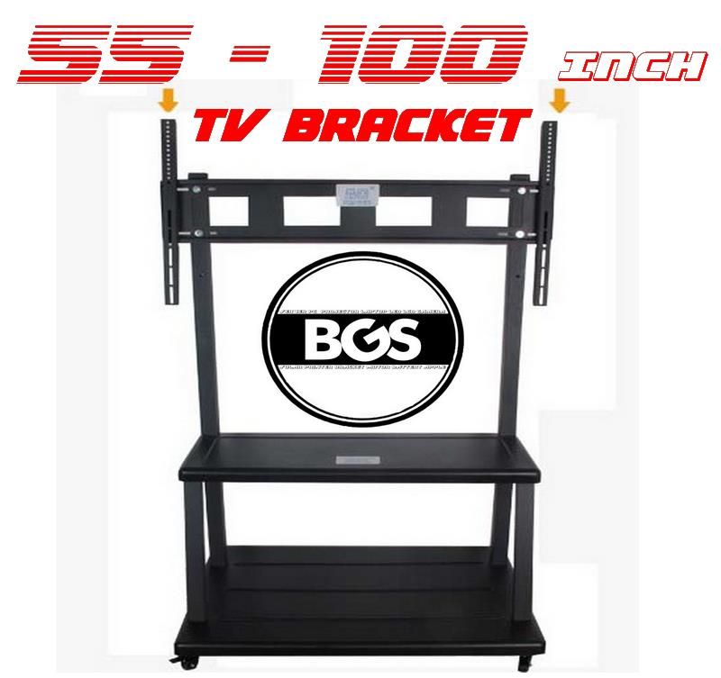 55 ~ 100 inch LCD TV Trolley Stand Rack Cabinet  Movable Large Bracket