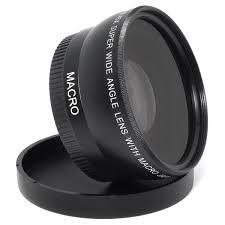 55mm 0.45x Wide Angle and Macro Lens for Canon / Nikon / Sony Cameras