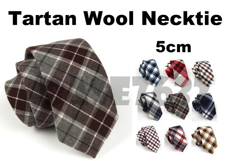 5cm  Man Men Stylish Tartan Wool Tie Ties Necktie Neckties 1780.1
