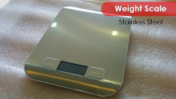 5kgx1g Ultra-Thin Stainless Steel Digital Kitchen Weighting Scale