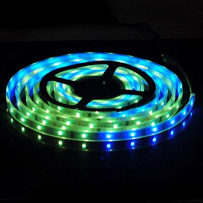 5M 5050 RGB 6803 IC Single LED Strip Light Waterproof IP67 12V DC