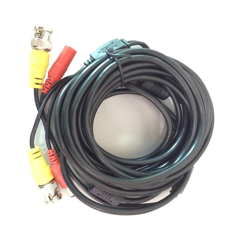 5m Cable CCTV Coaxial Cable with DC+BNC to DC+BNC