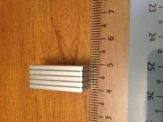 5pc N30 Strong Neodymium Cubic Magnets 25x8x2mm