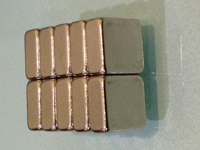 5piece Strong Block Magnet 10mm x 10mm x 5mm Rare Earth Neodymium N35