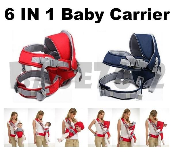 6 IN 1  Versatility Baby Carrier Born Infant Toddler Front Backpack