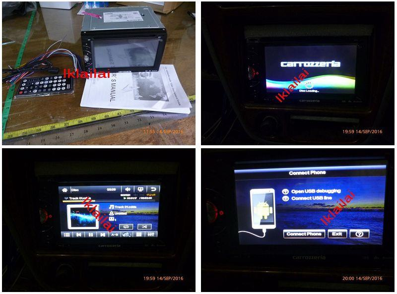 6.95 inch DVD Player with Mirror Link USB / FM / DVD / TV