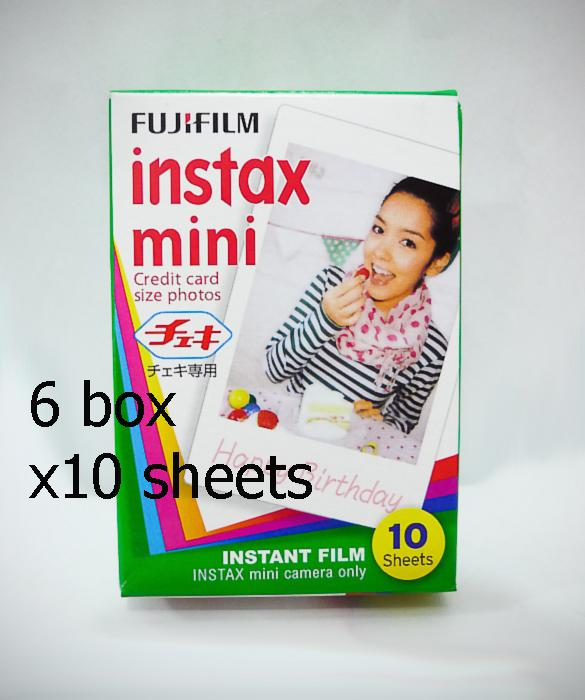 6 box  x Original Fujifilm instax mini 10 sheet Credit Card Size Film