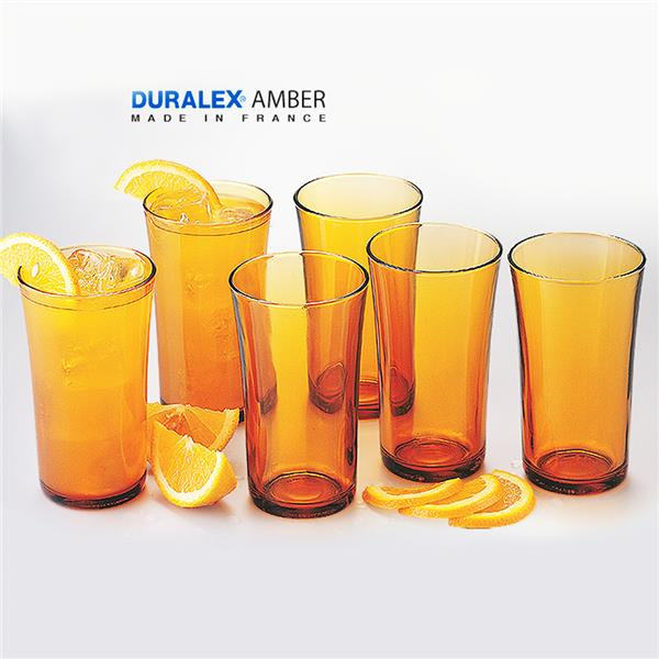 6 Pcs Duralex Amber Glass 28cl