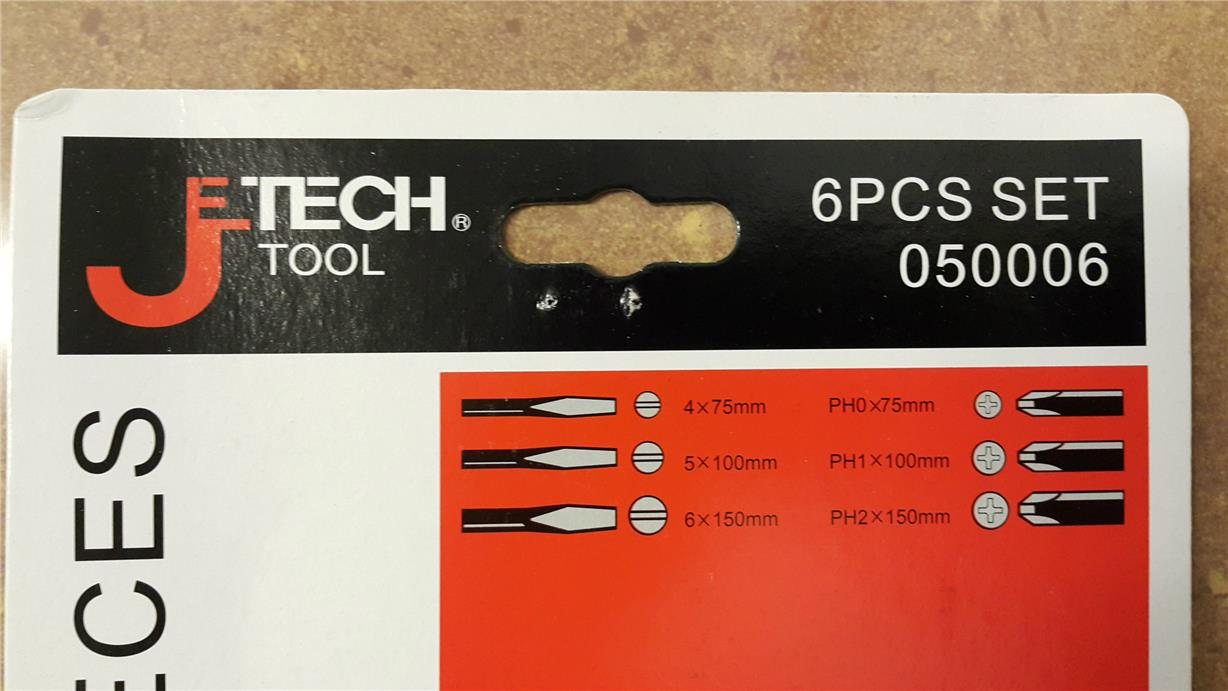 6 PCS SOFTGRIP SCREWDRIVER SET JETECH ST-6