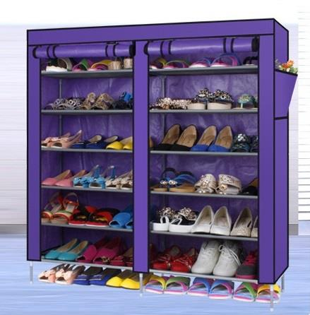 6 Tier with 2-Column Dust Cover Shoe Rack