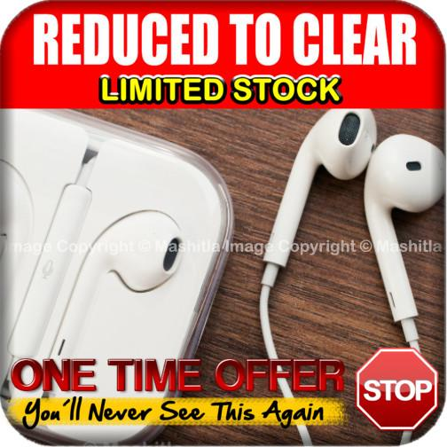 [6009WT] Earpods Handsfree Earphone Headsets Mic Volume Remote iPhone