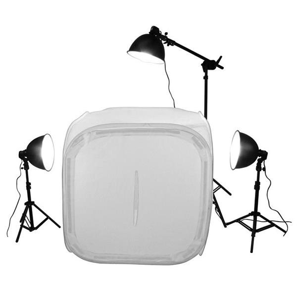 60cm Professional 3 Light Tent Kit with Boom Arm for product shoot