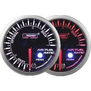 60mm Amber and White LED Air Fuel Ratio Gauge with Peak and Warning
