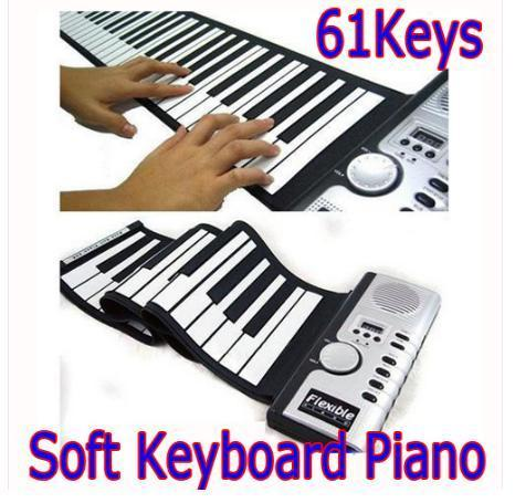61 Keys Portable Digital Electronic Roll Up Soft Keyboard Piano MIDI