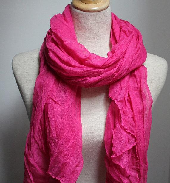 666 - Crippled pink scarf, big size , no need to iron