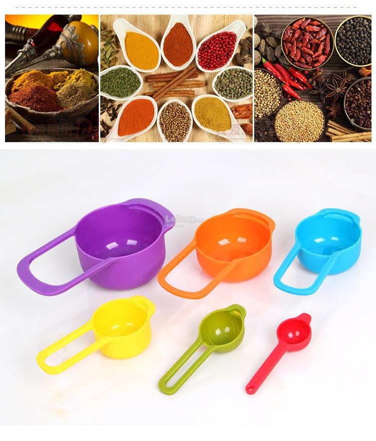 6pcs Colourful Measuring Set with Marking