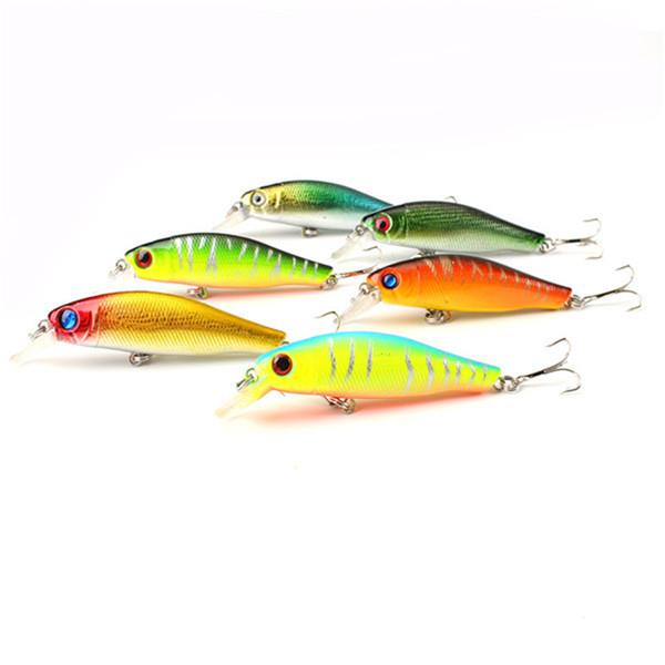 6Pcs/Lot 8.5CM 8.5G Colorful Fishing Lures Bait Crankbait 3D Fish Eyes
