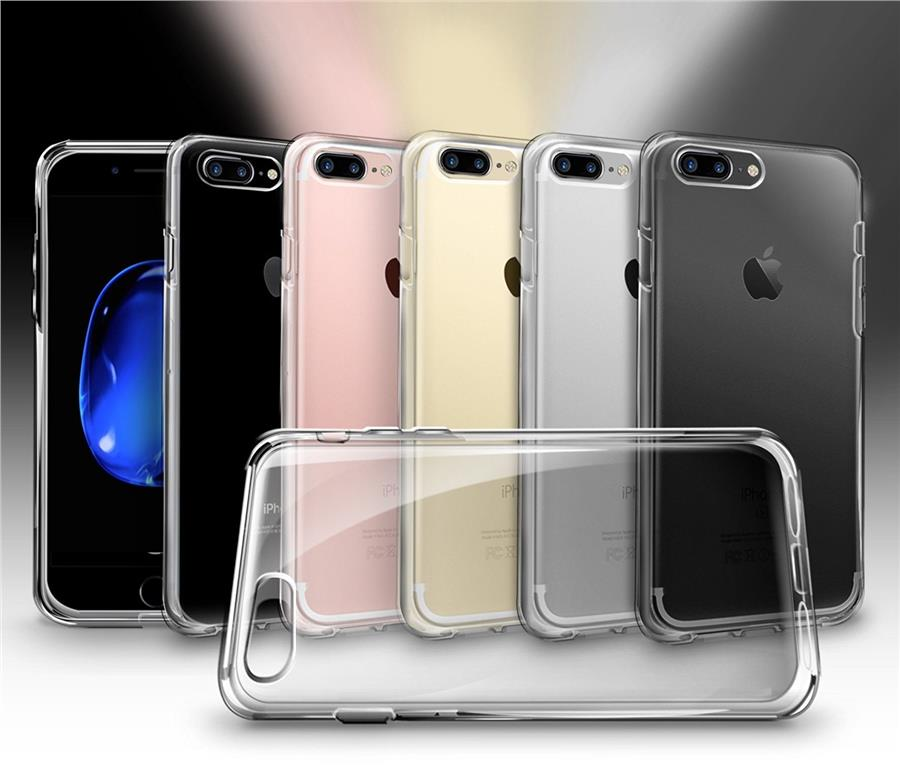 [7/7Plus] Orzly FlexiCase Silicone Gel Case for iPhone 7 / 7 Plus