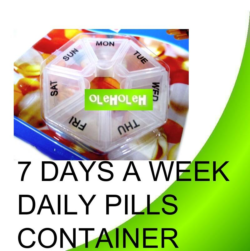 7 Days Daily Weekly Pill Medicine Tablets Reminder Holder Dispenser