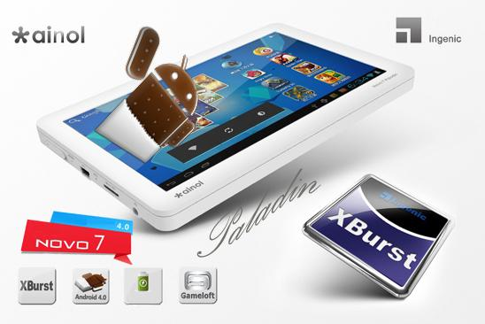 7 Inch,Capacitive Ainol NOVO7 Paladin Tablet , 3D GAMES