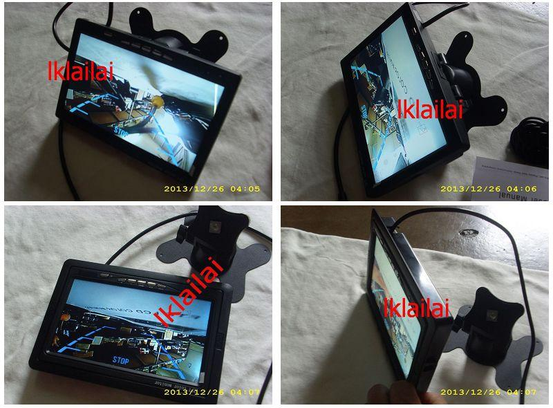 7 Inch LCD monitor w Stand + Reverse Camera