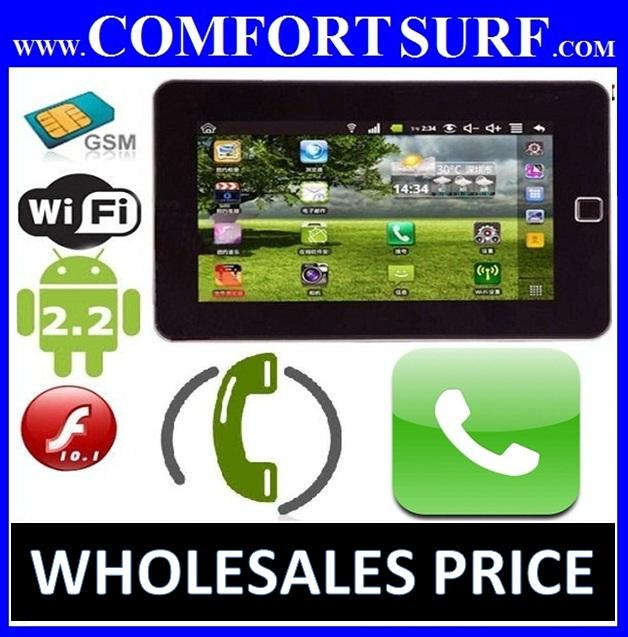 7' Netpad W1 WM8650 Sim Card Phone Call Wifi 3g MultiTouch MID Tablet PC