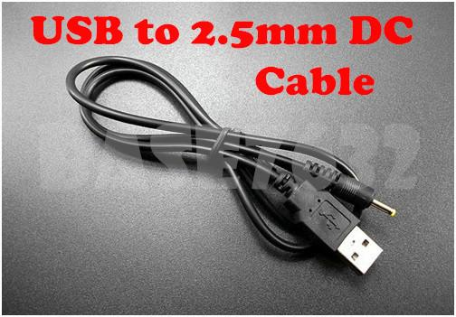 70cm USB to DC 2.5mm x 0.7mm Charging Cable Cord Tablet Device