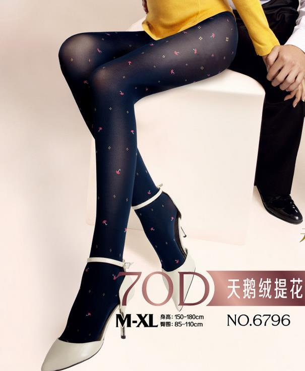 70D Velvet Cherry/Umbrella Pantyhose 14094