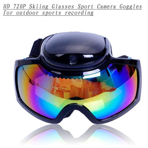 720P HD Skiing Glasses Sports Goggles DVR Camera  for Outdoor Motion R..