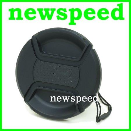 New 72mm Snap On Lens Cap for Digital DSLR Camera with string